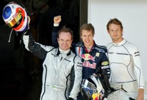 Vettel y los Brawn, los más rápidos (foto: laSexta)